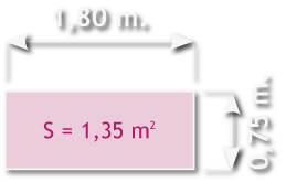 Ancho plataforma de andamio de aluminio de 180 x 75 cm.