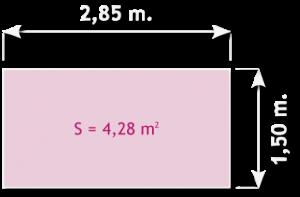 Ancho plataforma de andamio de aluminio de 285 x 150 cm.