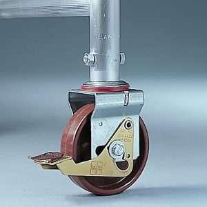 Rueda no regulable en altura para andamio de aluminio