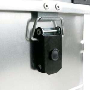 Detalle del baúl aluminio apilable 1016